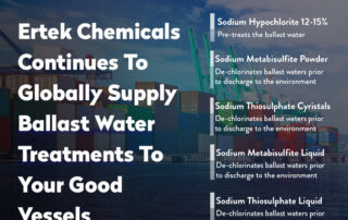 Ertek Chemicals Continues To Globally Supply Ballast Water Treatments To Your Good Vessels